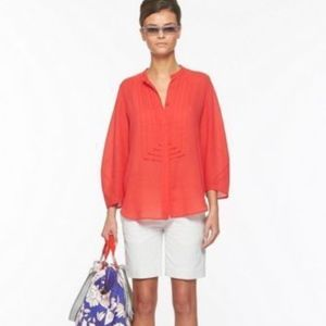 Diane Von Furstenberg Hatti Orange Cotton Blouse